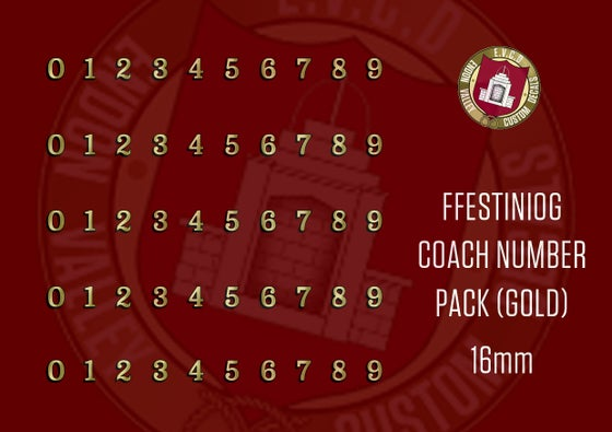 Image of Ffestiniog Coach Number Pack (Gold)