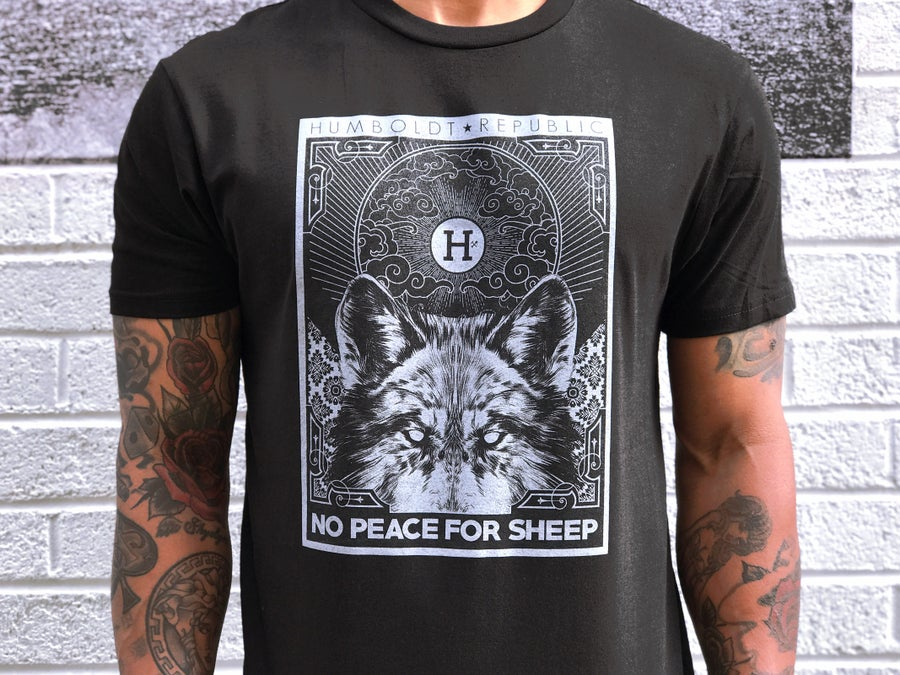 "Image of ""Peace For Sheep"" Men's Premium Tee"
