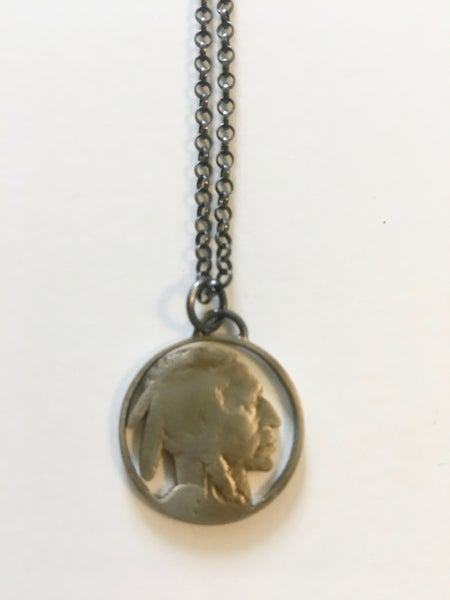 Image of Indian Head Pendant by Stacey Lee Webber