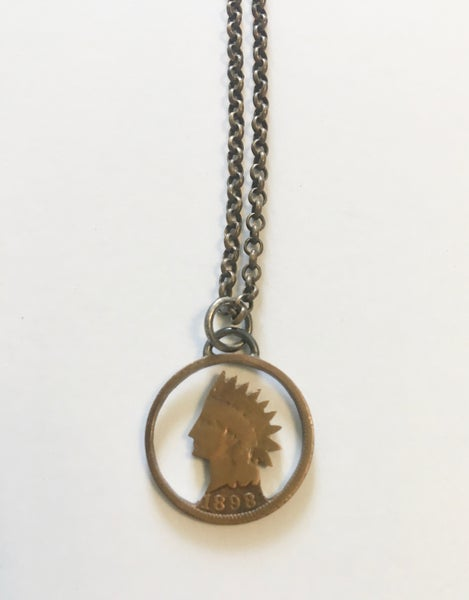 Image of Indian Head Penny Pendant by Stacey Lee Webber
