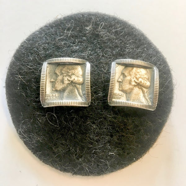 Image of Square George Earrings by Stacey Lee Webber