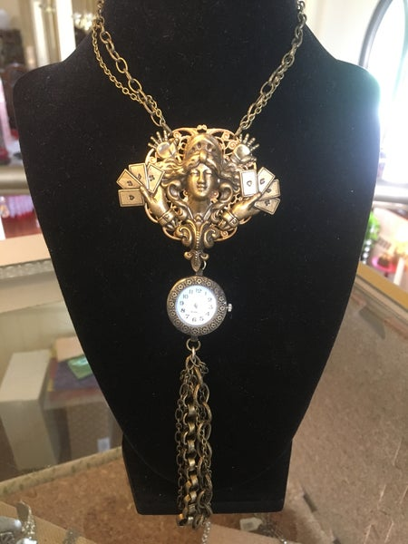 Image of Deco Necklace with Pendant Watch by the Divine Ms. M.