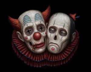"Image of ""Siamese Clowns"" Canvas Giclee 11x14"""