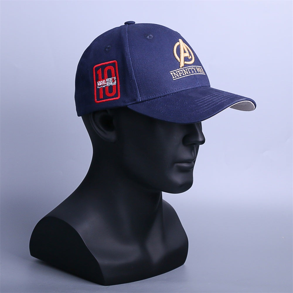 a0372d3b37f6a Infinity War Crew Hat Equip Embroidered Infinity Gauntlet Cap Marvel  Avengers