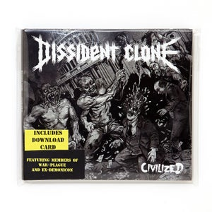 """Image of DISSIDENT CLONE """"CIVILIZED"""" CD + download card"""