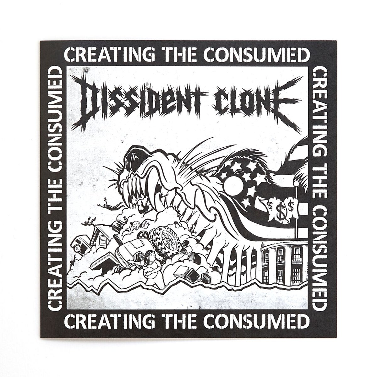 "Image of DISSIDENT CLONE ""CREATING THE CONSUMED"" 7"" vinyl"