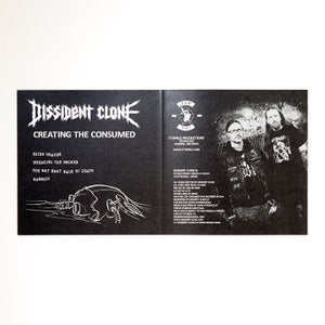 """Image of DISSIDENT CLONE """"CREATING THE CONSUMED"""" 7"""" vinyl"""