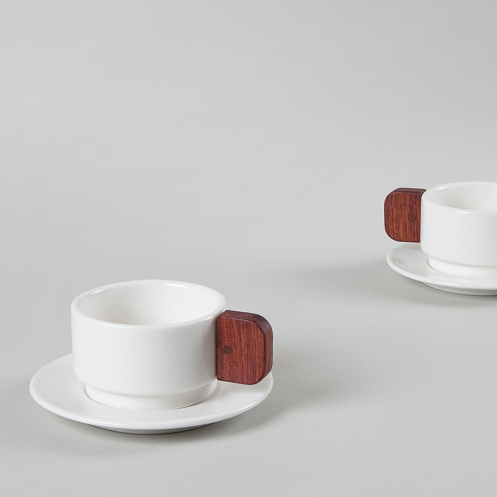 Image of CUP Coffee. White. Pack 2 unit.