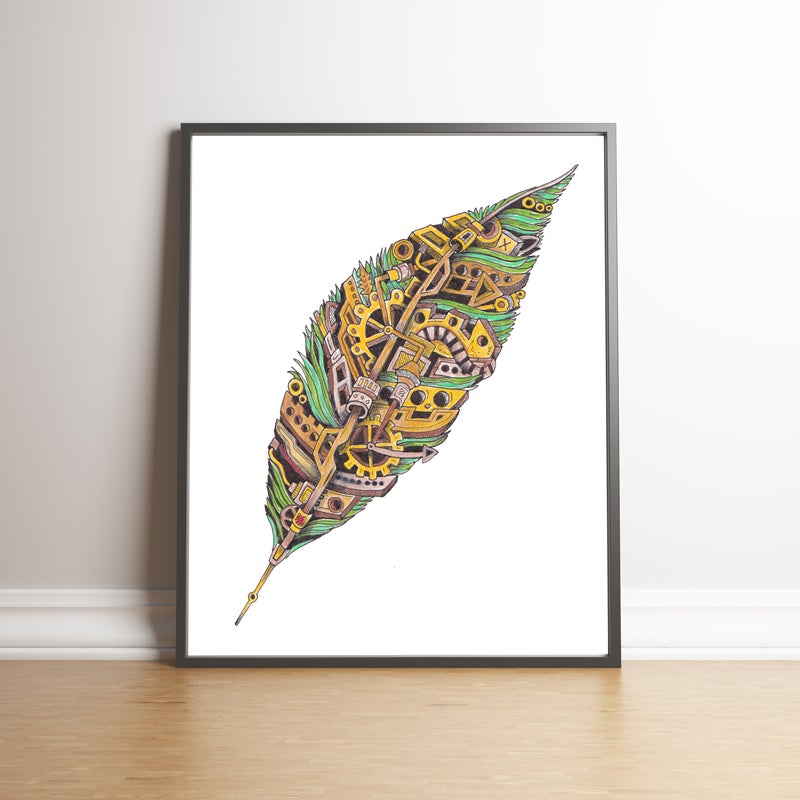 Image of The Mechanical Feather limited edition hand signed print