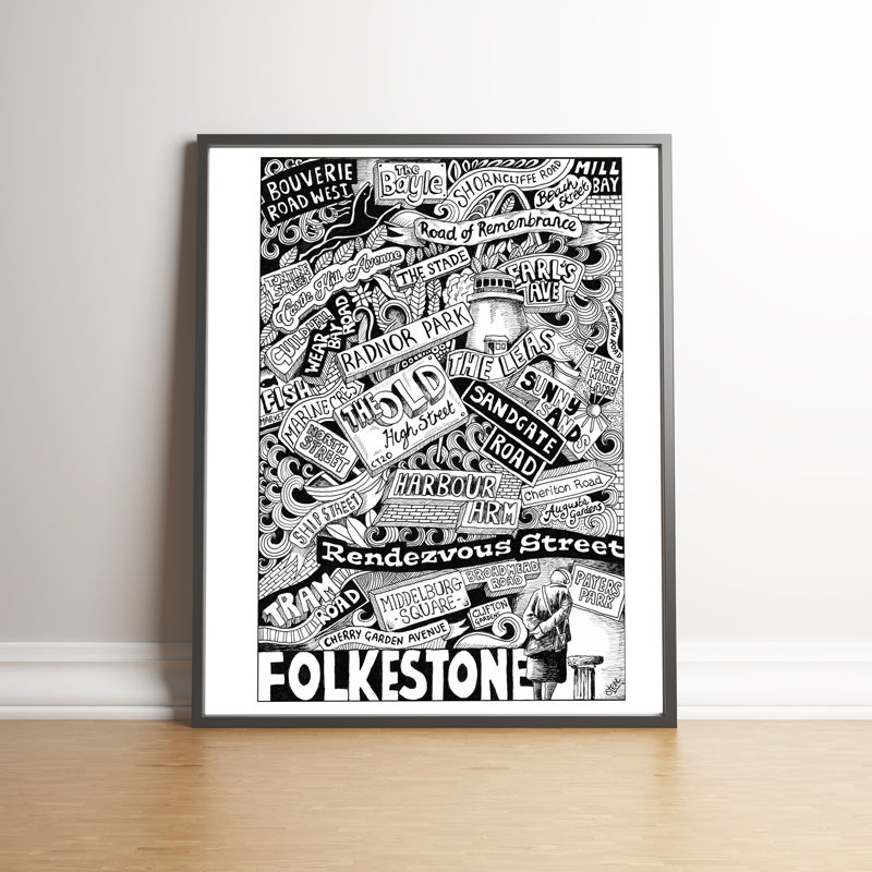 Image of Folkestone Street Names LARGE print