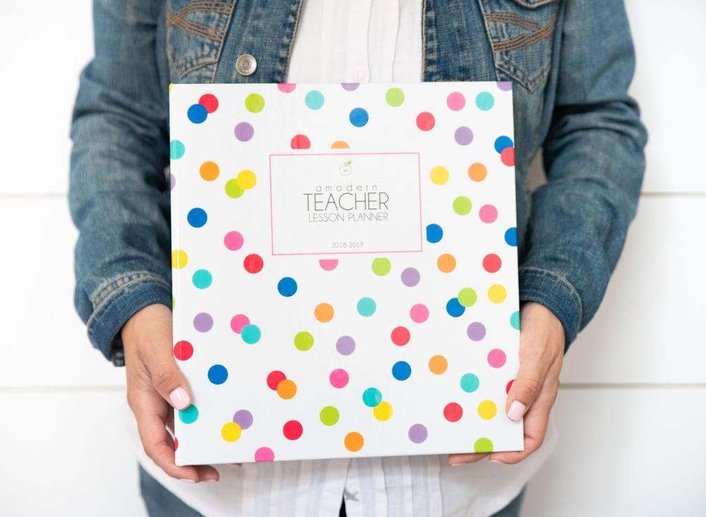 Image of ***Confetti Dots*** A Modern Teacher Lesson Planning BINDER
