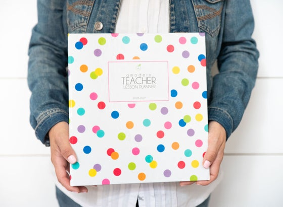 Image of ***Confetti Dots*** A Modern Teacher Lesson Planning BINDER