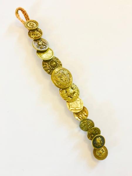 Image of Antique Brass Button Bracelet