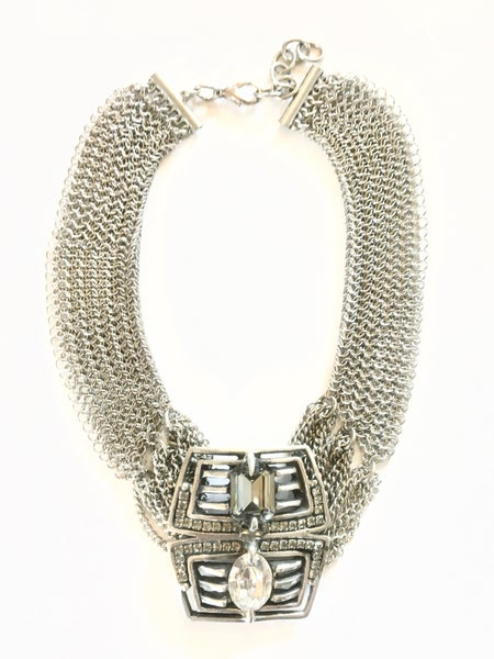Image of Stainless Steel and Crystal Diadem Necklace