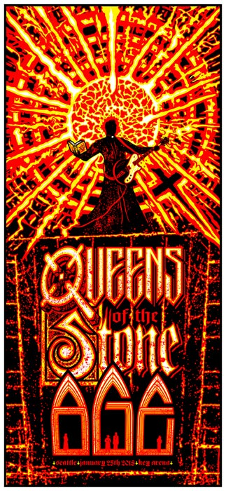 Image of QOTSA • '18 Seattle Screen Print