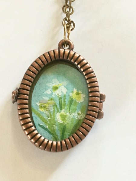 Image of Daffodil Locket by Theresa Maresca