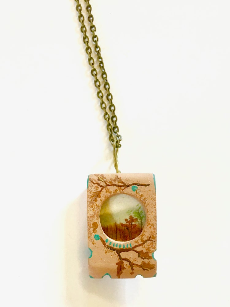 Image of Forest Scene Pendant by Theresa Maresca