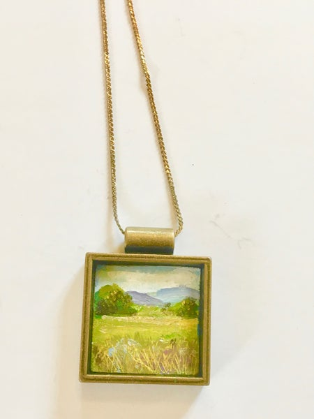 Image of Landscape Pendant by Theresa Maresca