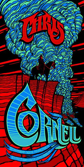 Image of Chris Cornell •'15 Philadelphia/Wilkes-Barre Screen Print