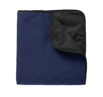 Image of Water Resistant Fleece & Poly Travel Blanket