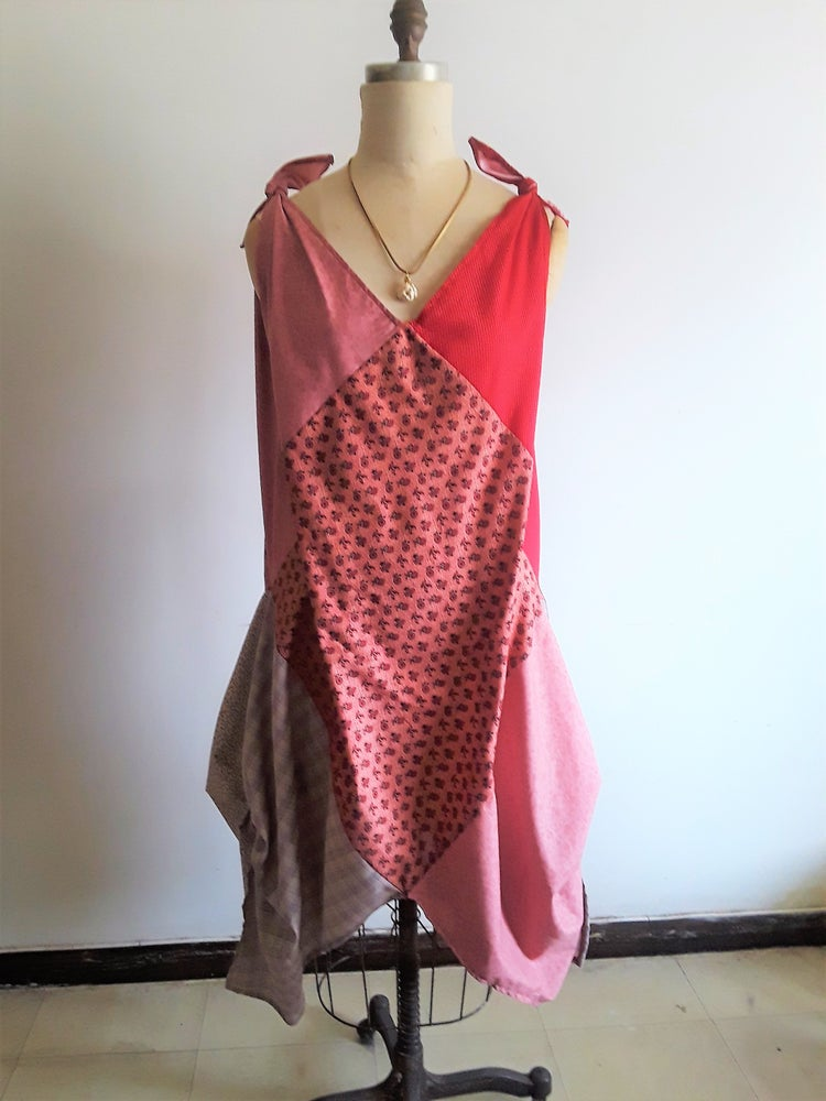 Image of Patchwork Sack Dress