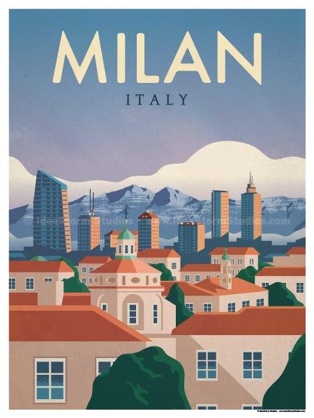 Image of Milan Poster
