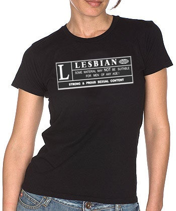 Image of RATED L for Lesbian Tee
