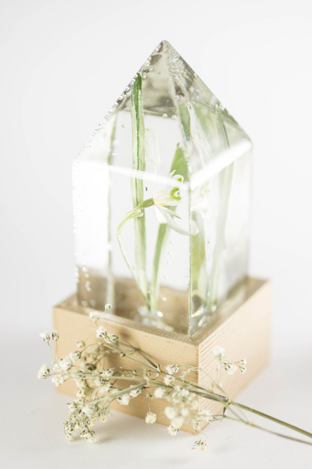 Image of Snowdrop (Galanthus nivalis) - Floral Desk Light #2