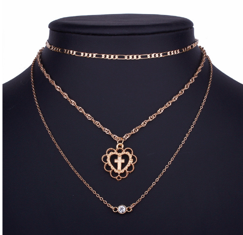 Image of Heart of Gold Layered Necklace