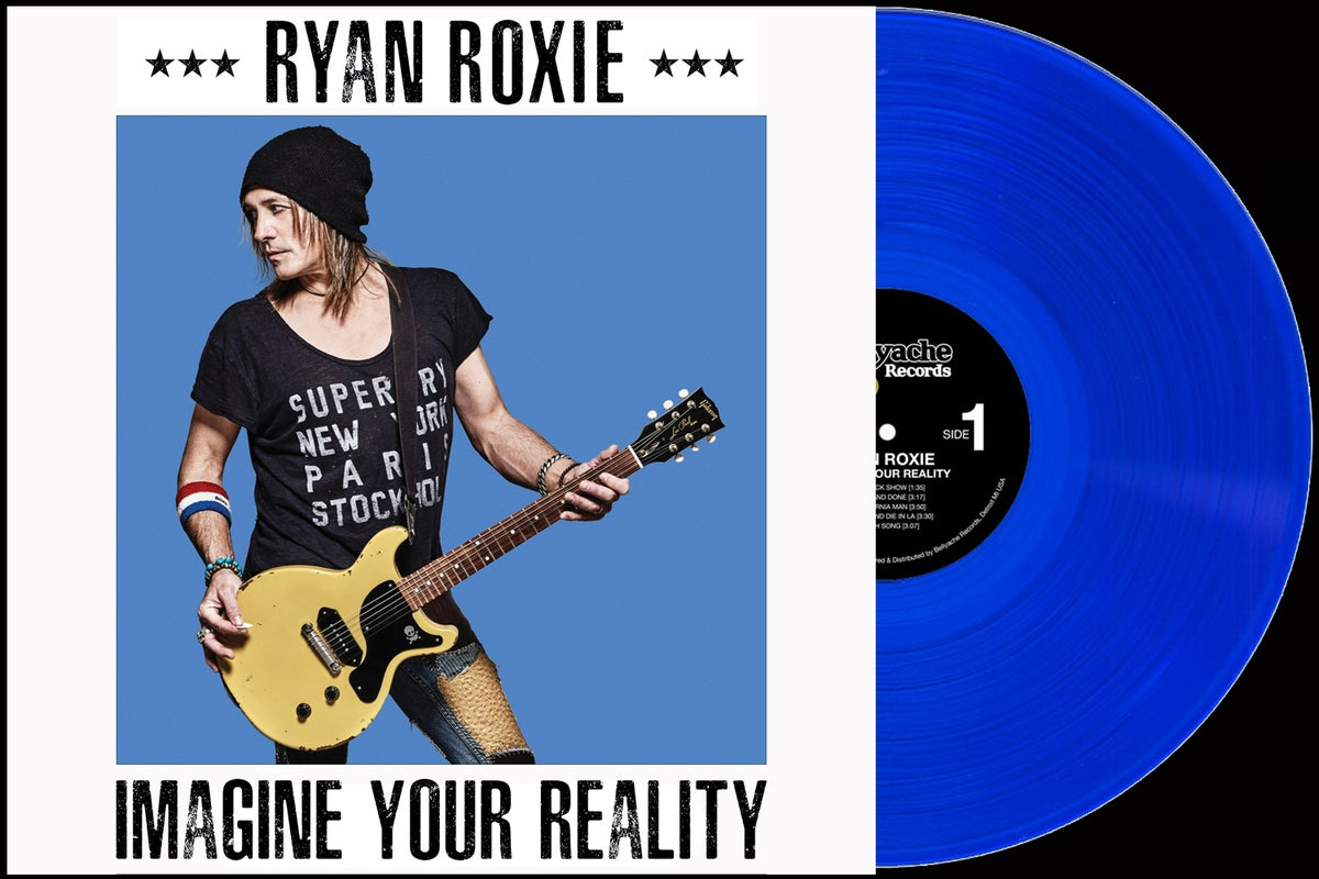 Image of Ryan Roxie - Imagine Your Reality - Super Deluxe Edition LP + Guitar Pick Pack Bundle Deal