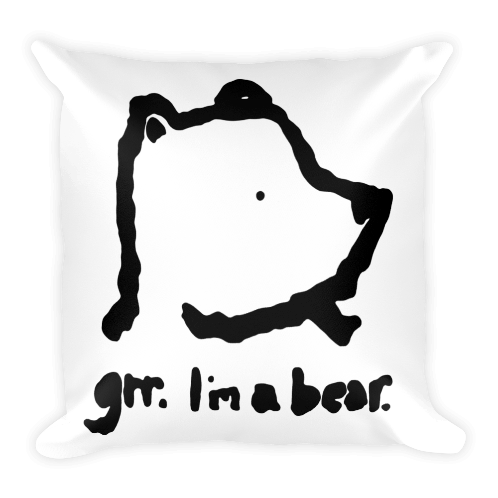 Image of Grr. I'm a Bear Pillow