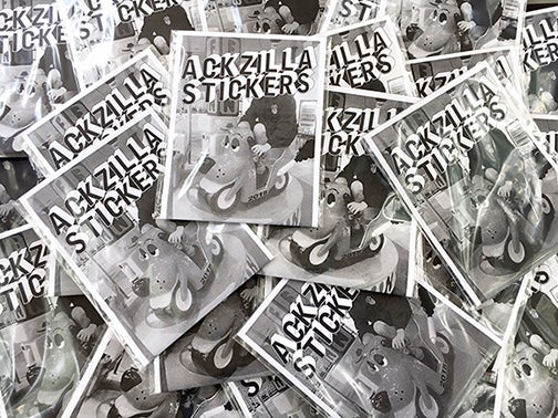 Image of ACKZILLA 2018 sticker pack