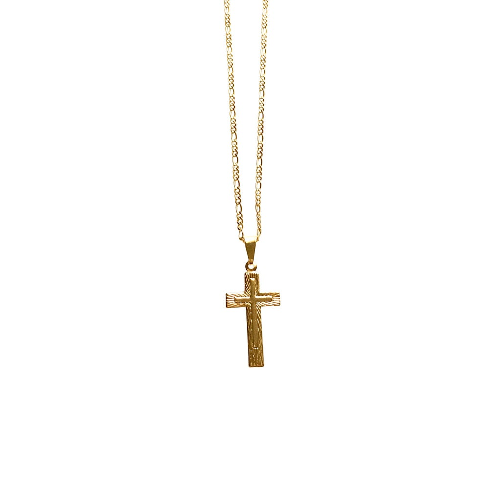 Image of Double Cross Necklace