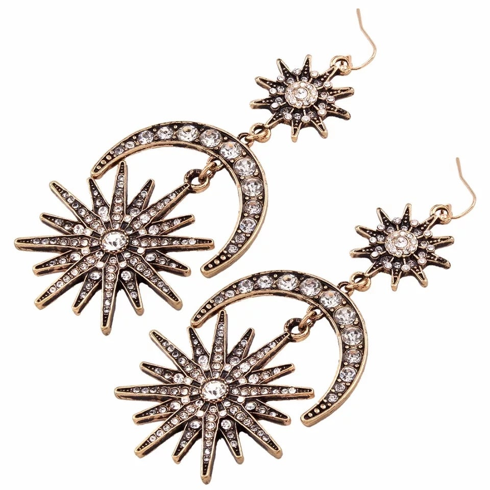 Image of Star-Moon Earrings