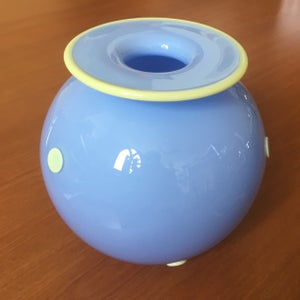 Image of Two Tone Glass Large Dot Vase in Hyacinth Blue