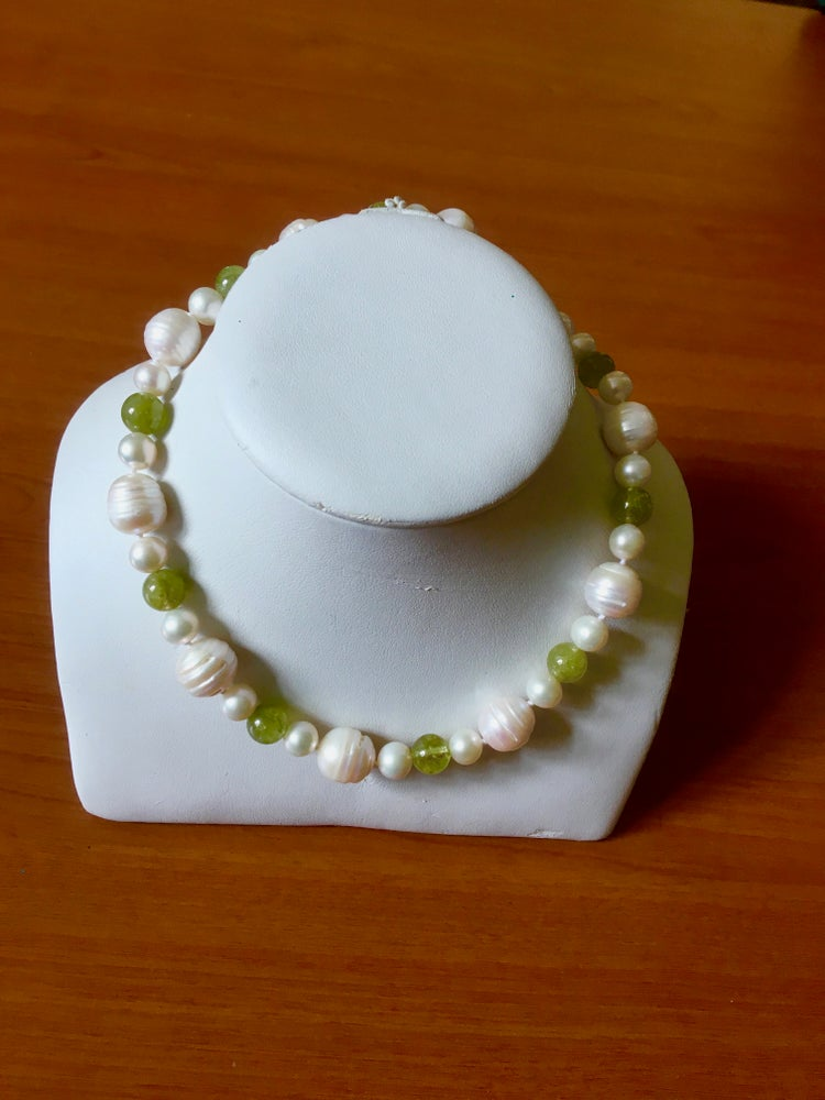 Image of Baroque Pearl and Garnet Necklace by FAI
