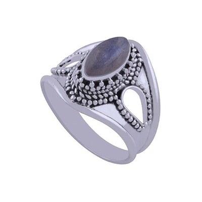 Image of Sterling Silver & Labradorite Orpheus Ring