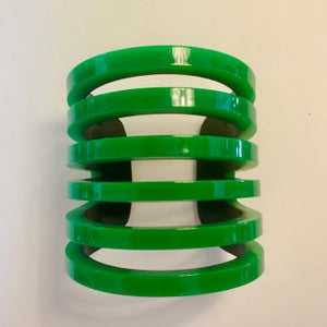 Image of Layered and Cut Green Lucite Bracelet by Jean-Marie Poinot (Paris)
