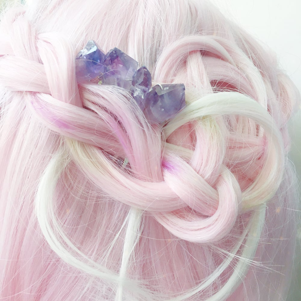 Image of Amethyst Hair Comb