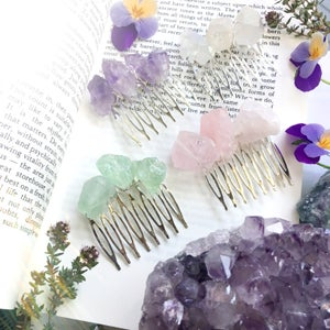 Image of Fluorite Hair Comb
