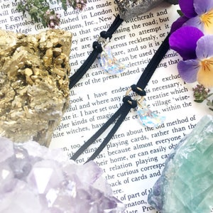 Image of Artemis Moon Choker - Swarovski Crystal and Faux Suede