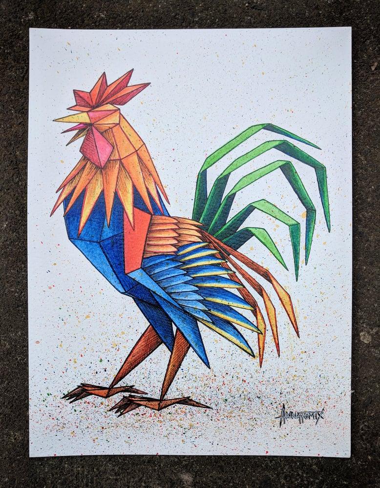 Image of 'Cock' original illustration