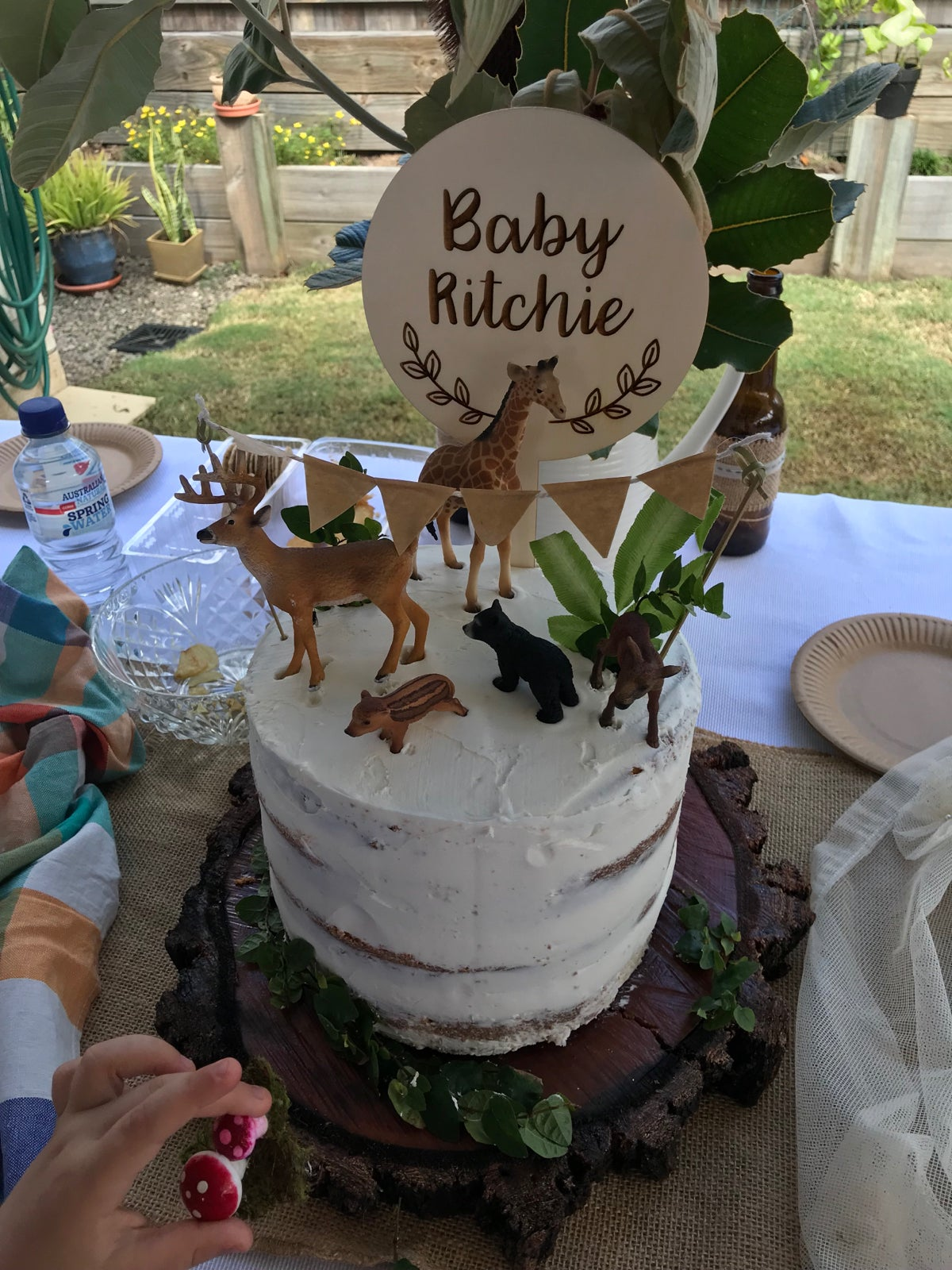 Image of Custom Etched Cake Topper