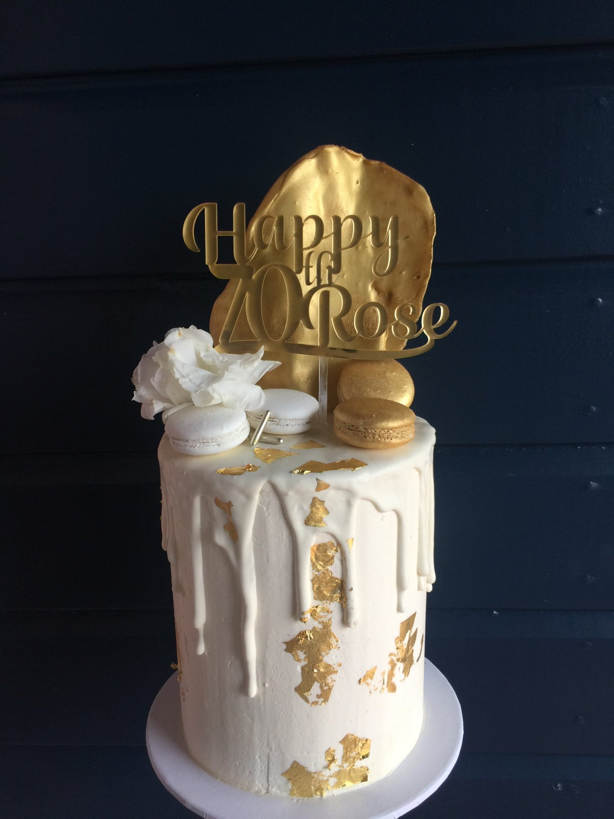 Image of Custom Mirror Cake Toppers