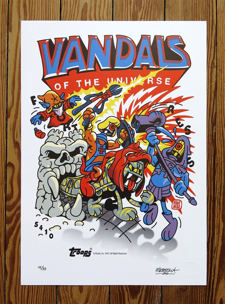 Image of Vandals Of The Universe / print