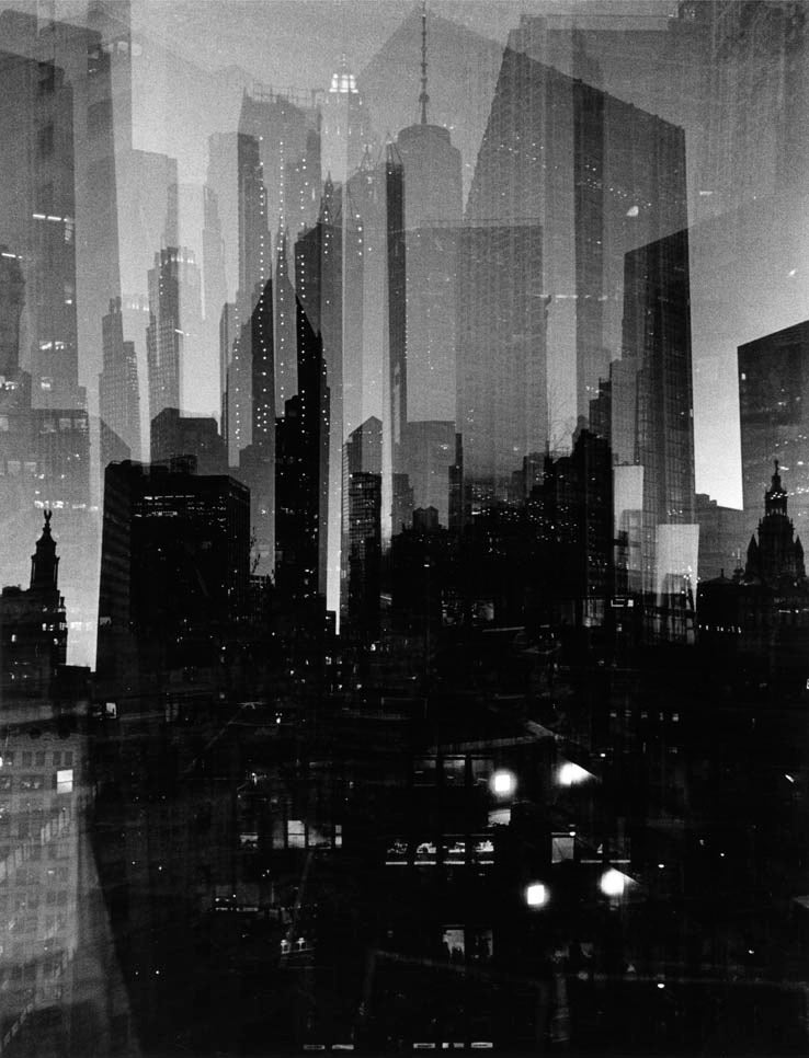 Image of futurist skyline
