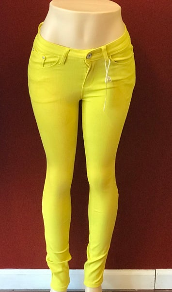 Image of Yellow denim jeans