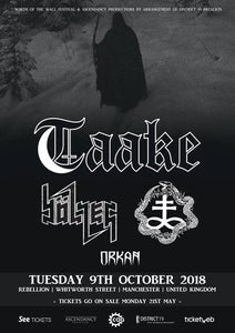 Image of TAAKE | BOLZER | ONE TAIL, ONE HEAD @ Rebellion, Manchester. 8th October.