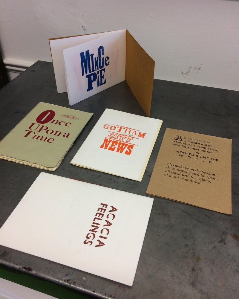 Image of Letterpress & bookmaking workshop Sat.25th August 2018