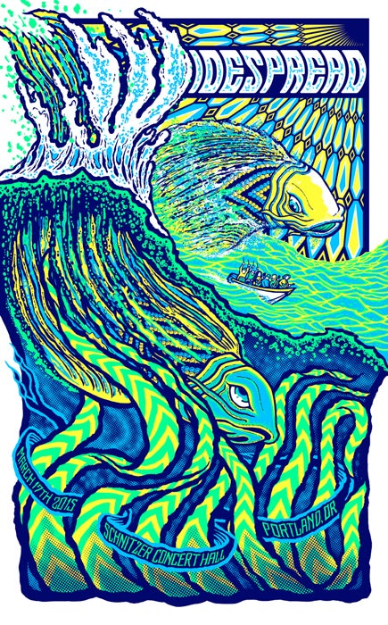 Image of Widespread Panic • '15 Portland Screen Print